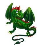 cunning δράκος πράσινος Απεικόνιση αποθεμάτων