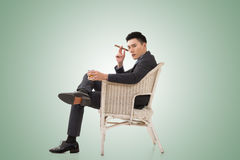 Cunning businessman of Asian Stock Images