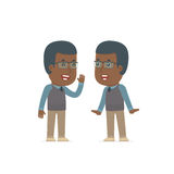 Cunning Character African American Teacher gossiping and telling Royalty Free Stock Photos
