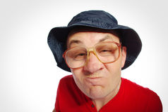 Cunning man, funny face. Royalty Free Stock Photography