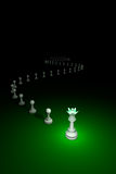 Cunning maneuver.Flexible Policy (chess metaphor). Royalty Free Stock Images