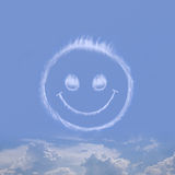 With a cunning smile. Smile against the sky from clouds Stock Images