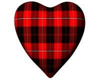 cunningham heart red scottish tartan valentine διανυσματική απεικόνιση