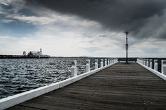 Cunningham Pier in Geelong stockbilder