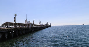 Cunningham pier in geelong,australia stock photography