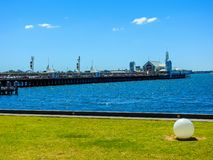 Cunningham Pier and Geelong seafront stock image