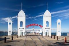 Cunningham Pier i sommar fotografering för bildbyråer