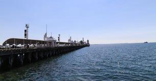 Cunningham-Pier im geelong, Australien Stockfotografie
