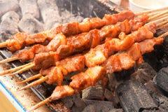 Cuocere carne alla griglia Immagine Stock Libera da Diritti