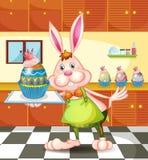 Cuocere del coniglietto bigné uovo-progettati illustrazione vettoriale