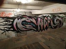 Cuochi unici sotterranei di Kiev Ucraina dei Graffitis immagini stock libere da diritti
