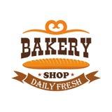 Cuocia il negozio Baguette al forno fresche quotidiane del grano illustrazione vettoriale