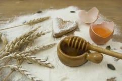 Cuocia il pan di zenzero Fotografie Stock Libere da Diritti