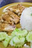 Cuocia il riso del pollo della Tailandia Fotografia Stock