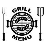 Cuocia il simbolo alla griglia del menu Immagine Stock