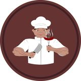 cuoco Approvvigionamento del punto di pubblicità illustrazione di stock