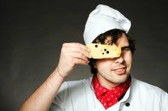 Cuoco con formaggio Fotografie Stock Libere da Diritti