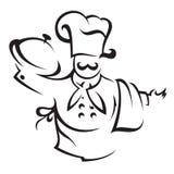 Cuoco del cuoco unico Fotografia Stock Libera da Diritti