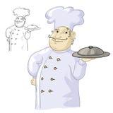 Cuoco del cuoco unico Fotografia Stock