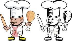 Cuoco del cuoco unico Fotografie Stock