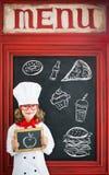 Cuoco del cuoco unico del bambino Concetto di affari di ristorante Immagini Stock