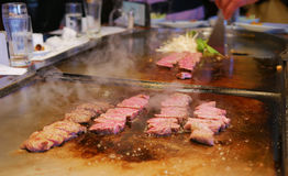 Cuoco del manzo di Kobe Fotografia Stock