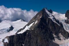 Cuoco del supporto e ghiacciai - Nuova Zelanda Fotografia Stock