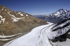 Cuoco del supporto - ghiacciaio di Tasman - la Nuova Zelanda Fotografia Stock Libera da Diritti