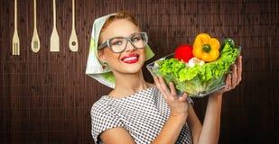 Cuoco della donna Immagine Stock