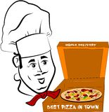 Cuoco della pizza Fotografia Stock Libera da Diritti