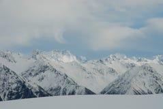 Cuoco di Mt e Mt Tasman, alpi del sud, NZ Fotografie Stock
