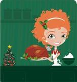 Cuoco di natale Fotografia Stock