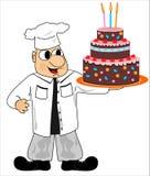 Cuoco e torta Immagine Stock Libera da Diritti