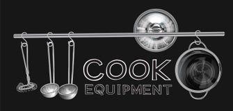 Cuoco Equipment Fotografie Stock Libere da Diritti