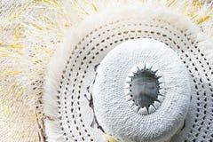 Cuoco Islander Rito Hat Rarotonga Cook Islands tessuto donna Fotografia Stock Libera da Diritti
