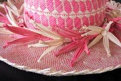 Cuoco Islander Rito Hat Rarotonga Cook Islands tessuto donna Immagini Stock