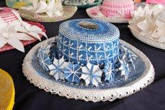 Cuoco Islander Rito Hats Rarotonga Cook Islands tessuto donne Fotografia Stock Libera da Diritti