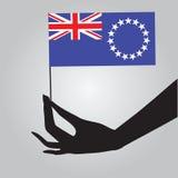 Cuoco Islands dello Stato di bandiera Immagini Stock Libere da Diritti