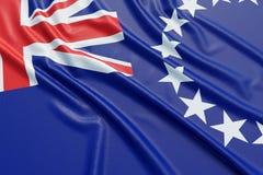 Cuoco Islands Flag Fotografia Stock Libera da Diritti