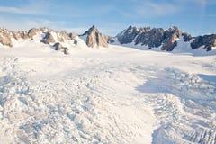 Cuoco Nuova Zelanda della montagna di paesaggio di inverno fotografia stock
