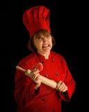 Cuoco pazzesco   fotografia stock libera da diritti