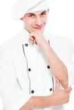 Cuoco Pensive di smiley fotografia stock libera da diritti