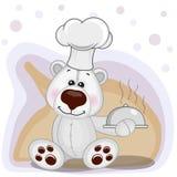 Cuoco Polar Bear Illustrazione Vettoriale