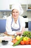 Cuoco principale felice immagini stock libere da diritti