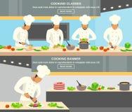 Cuoco Profession Banners Set Fotografia Stock