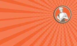 Cuoco Rolling Pin Circle Retro del cuoco unico del biglietto da visita illustrazione di stock