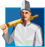 Cuoco Rolling Pin Low Polygon del cuoco unico royalty illustrazione gratis