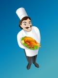 Cuoco unico Illustrazione di Stock
