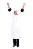 Cuoco unico africano allegro Immagine Stock Libera da Diritti