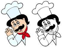 Cuoco unico appostantesi Immagini Stock